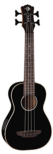 Black Baritone Guitar (Luna Guitars Bass Ukulele - Black)