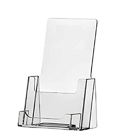 Amazon clear acrylic brochure holder with business card holder clear acrylic brochure holder with business card holder colourmoves