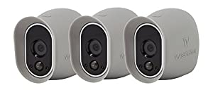 3 x Silicone Skins for Arlo Smart Security - 100% Wire-Free Cameras by Wasserstein