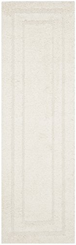 Safavieh Shadow Box Shag Collection SG454-1111 Cream Runner (2'3