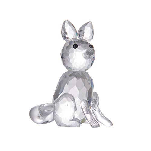 LONGWIN Crystal Animal Figurines Mini Glass Fox Statues Home Table Decoration Ornaments Collectible Gifts (Glass Fox Figurine)