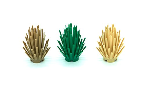LEGO 3 Bush Combo Plant Pack (Green, Tan, and Dark Tan)