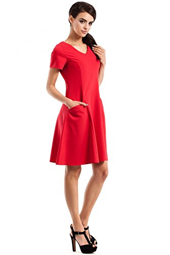 MOE Kleid 233 Schwarz Rot 4ypiSBsPP