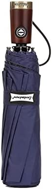 Luxury Automatic Umbrella Men Business Wooden Handle Big Golf Umbrella Windproof 8K Sunscreen Parasol UPF50+ F