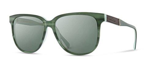 Shwood - Mckenzie Oversized Acetate & Wood Sunglasses - Jade // Ebony ()