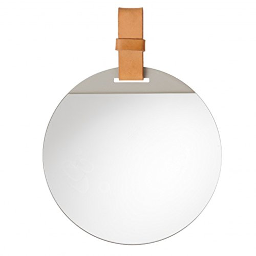 WENWEN Mirror Simple Makeup Mirror Nordic Round Wall-Mounted Mirror Bathroom Bathroom Mirror -