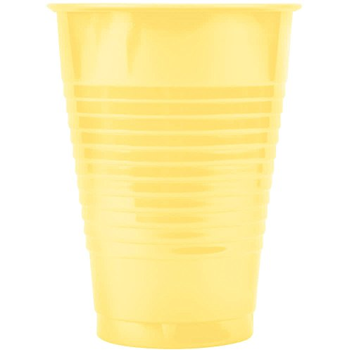 28102071 12 oz. Mimosa Yellow Plastic Cup - 20/Pack By TableTop King
