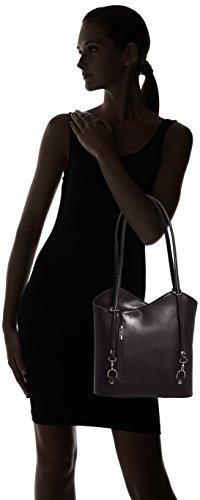 Borse Chicca De Negro Cm nero Mujer Lado Medio 9039 nero Bolsa 30 Para TwArxOqAdC