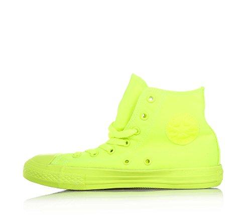 CONVERSE niño / o altas zapatillas de deporte 656851C CTAS HI FLUO ROJO amarillo fluorescente