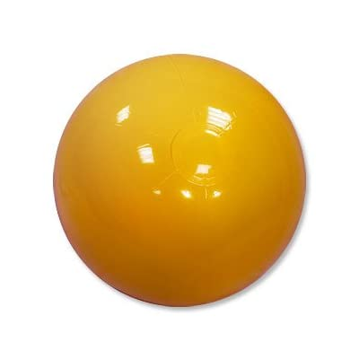 Beachballs - 16'' Solid Yellow Beach Balls: Sports & Outdoors