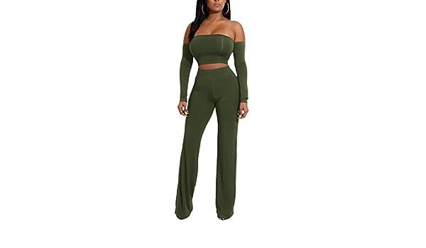 Blansdi Women Elegant Off Shoulder Lantern Sleeve Bodycon Clubwear Legging Jumpsuit Rompers