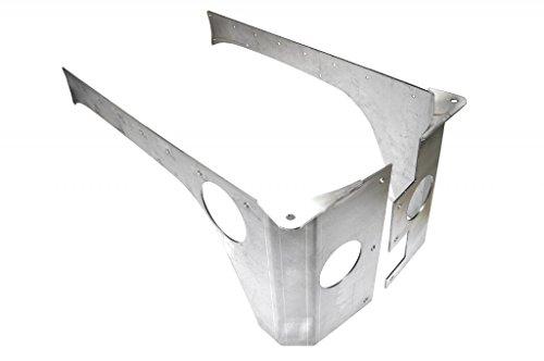 EVO-1070-4DAL 4dr. Rear Rockskin Corners, Aluminum 4dr Laser
