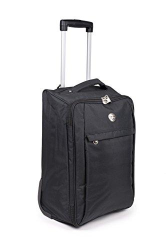 Borse cabina per Easyjet trolley da viaggio valigia per la maggior parte compagnie aeree - bagaglio a mano (nero)
