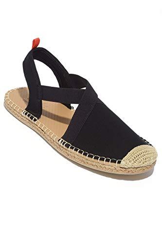 Beachcomber Sandal - Sea Star Beachwear Women's Neoprene Seafarer Slingback Sandal, Water-Friendly and Quick Drying Black 7