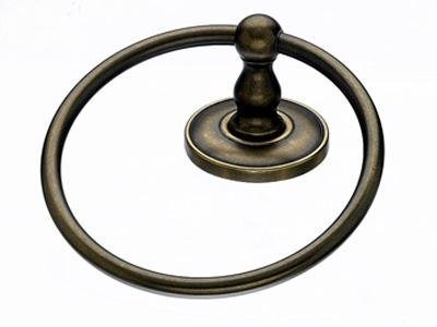 Top Knob Edwardian Bath Ring - ED5GBZD - Greman Bronze - Plain Back Plate