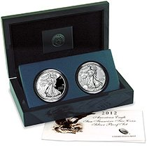 (2012 American Eagle San Francisco Two-Coin Silver Proof Set EG1 )