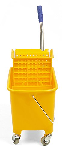 Mind Reader Commercial Mop Bucket - with Down Press Wringer - 22 Quart Capacity - Yellow by Mind Reader (Image #5)
