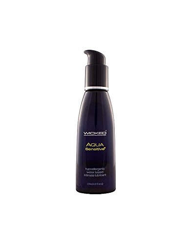 Wicked Sensual Care Collection Hypoallergenic Aqua Sensitive Waterbased Lubricant - 4 Oz Unscented by Wicked Lubes