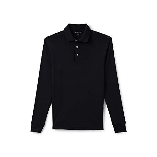 Lands End Mens Long Sleeve Supima Interlock Polo Shirt