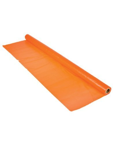 Orange Tablecloth Roll 1Mil 100 Ft X 40 In