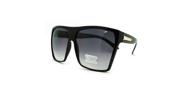 619beb4ae6 Amazon.com  Super Oversized Sunglasses Unisex Flat Top Square Frame Fashion  Wear  Clothing
