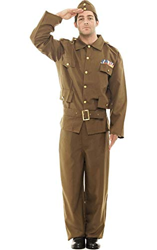 1940s UK and Europe Men's Clothing – WW2, Swing Dance, Goodwin Adult Home Guard Army Fancy Dress Costume £41.99 AT vintagedancer.com