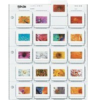 Print File 2x2-20B Archival Storage Page for 20 Slides - Pack of 25 - 050-0270 by Print File