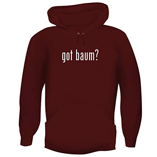 (One Legging it Around got Baum? - Men's Funny Soft Adult Hoodie Pullover, Maroon, X-Large)