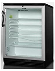 Summit SCR600BLHV Beverage Refrigeration, Glass/Black