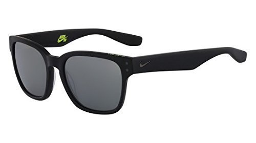 Nike EV0877-001 Volano Sunglasses (One Size), Matte Black/Gunmetal, Grey with Silver Flash Lens