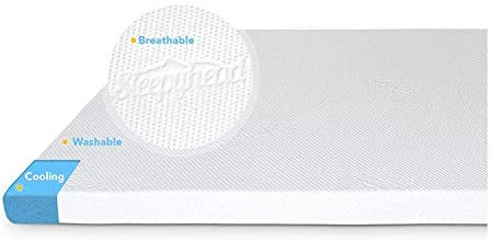 Sleepyhead Memory Foam Mattress Topper for Dorm Beds, College Student Gift Full, 3