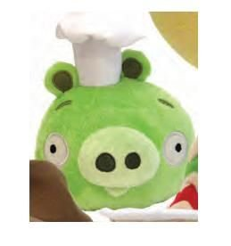 Angry Birds Plush 6-Inch Pig with Chef Hat