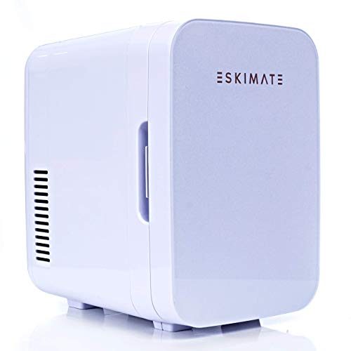 ESKIMATE 6 LiterCompact Portable Mini Fridge for Bedroom, Office, Car, Dorm with Thermoelectric Cooler and Warmer, Small Refrigerator Storage for Skincare, Beauty, Breastmilk, Snacks – Classic White