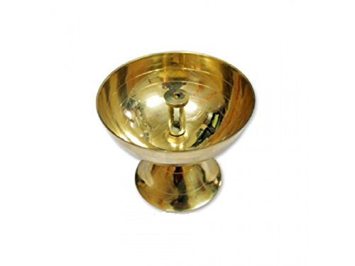 Cup Diya In Thick Brass Hindu Religious Puja Vessel