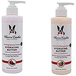 Warren London - Hydrating Butter and Leave-in Conditioner for Dogs - 2 Pack - Pomegranate and Acai & Guava and Mangosteen