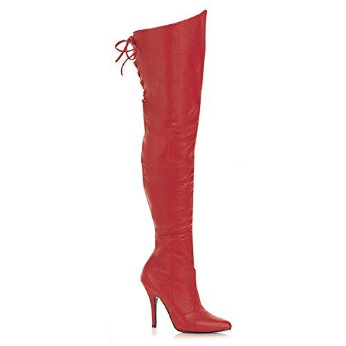 Pleaser Legend-8899 - Sexy Leder Overknee-Stiefel High Heels 36-48
