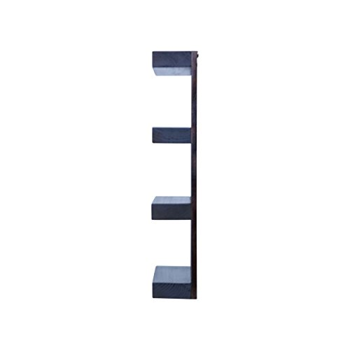 Solid Wood 4 tier Wall Mount Shelves Home Decor Decoration for Bathroom, Living Room, Kitchen and Entryway Made in the USA by Rooms Organized (Expresso, 22'' h x 15'' w x 4.25'' deep) by Rooms Organized (Image #4)