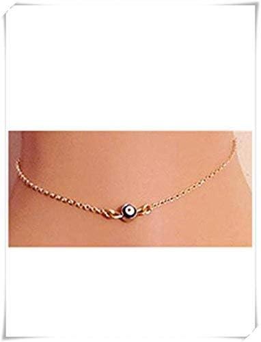 Handcess Bracelet de cheville boh/ème /à couches Dor/é mauvais yeux pour femme et fille