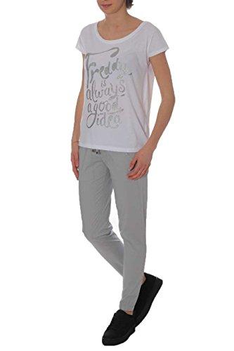 FREDDY - Pantalón deportivo - para mujer G51W Grigio Bianco