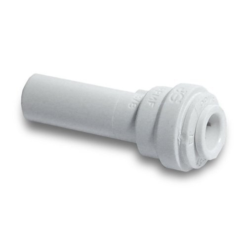Reducer Stem - John Guest Reducer 3/8 Stem OD x 1/4 Tube OD JG Quick Connect (White Polypropylene) RO DI Reverse Osmosis Drinking Water by John Guest