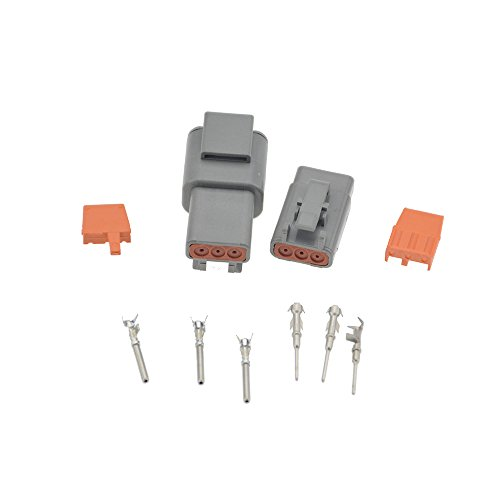 1 Sets Deutsch DTM 3Pin DTM06-3S DTM04-3P 20-24awg Auto Waterproof Electrical Connector Plug Enhanced Seal Shrink Boot -