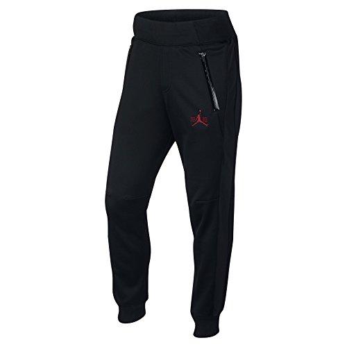 Nike mens AJ XI FLEECE PANT 777496-010_L - BLACK/BLACK/GY...
