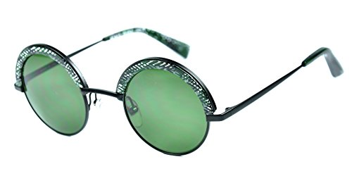 Alain Mikli A04003 sunglasses color 4112/71 Black/Green lenses - Mikli Sunglasses Alain