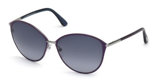 Tom Ford Tf 320 Penelope Violet/Silver Frame/Gray Gradient Lens 59Mm (Ford Penelope Tom)