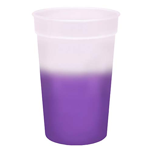 - 17oz Color Changing Stadium Cup, Set of 12, Frosted Purple