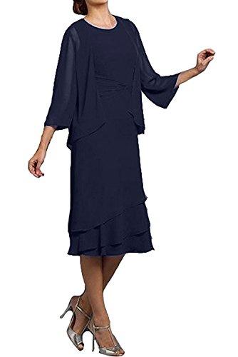 Topkleider azul mujer trapecio Vestido marino para rtIvrwq
