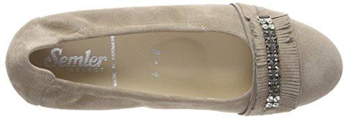 Semler Women's Fabia Closed Toe Ballet Flats Beige (Panna 028) kMqsk3M