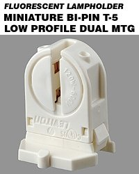 Leviton 13654-SWP Miniature Base T5 Bi-Pin Low Profile Fluor
