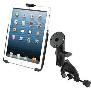Heavy Duty Yoke Clamp Rail Airplane Aircraft Mount Holder for Apple iPad ()
