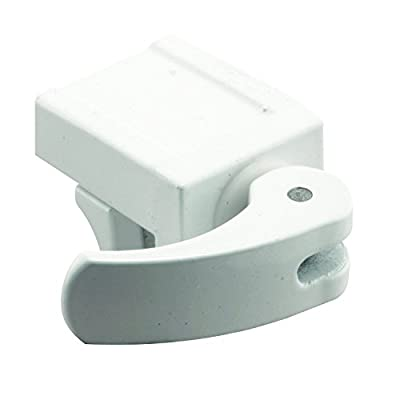Defender Security U 9809 Sliding Window Lock for Vinyl Windows – Easy Installation to Keep Windows Securely Closed – White Diecast Construction (Pack of 2)